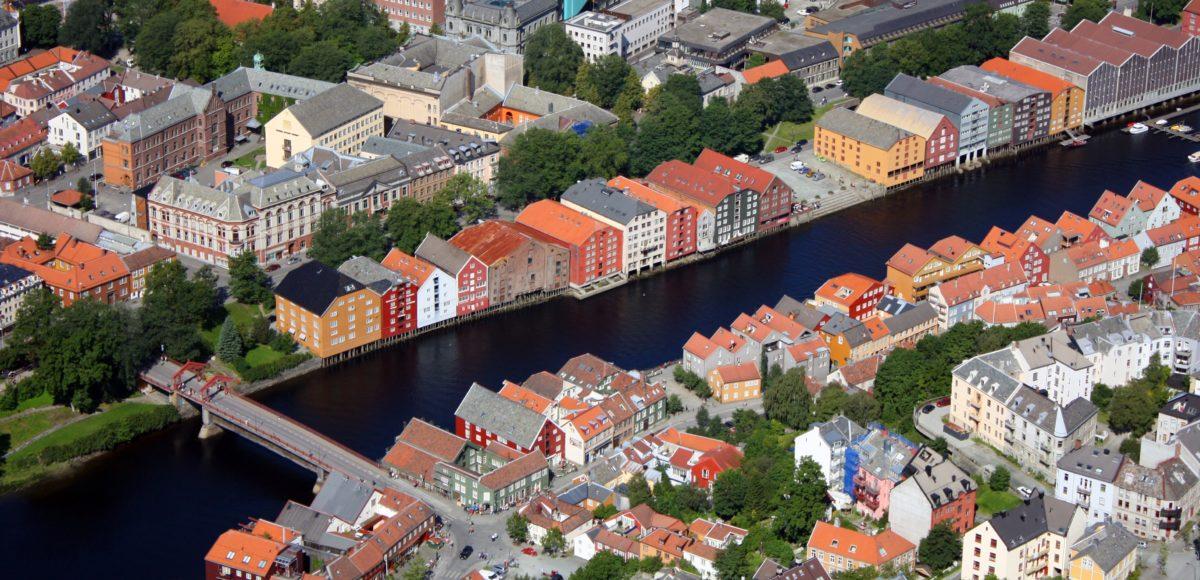 Trondheim sett fra luften